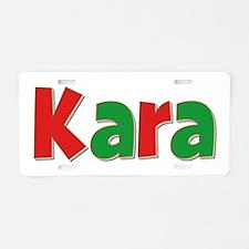 Kara Christmas Aluminum License Plate