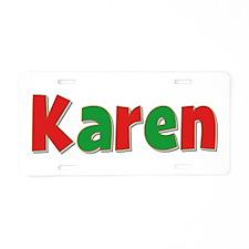 Karen Christmas Aluminum License Plate