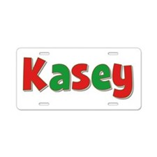 Kasey Christmas Aluminum License Plate