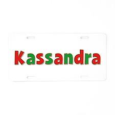 Kassandra Christmas Aluminum License Plate