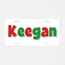 Keegan Christmas Aluminum License Plate
