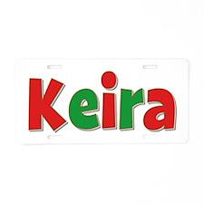 Keira Christmas Aluminum License Plate
