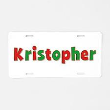 Kristopher Christmas Aluminum License Plate