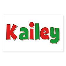 Kailey Christmas Rectangle Decal