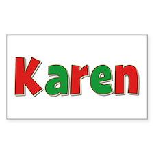 Karen Christmas Rectangle Decal