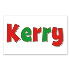 Kerry Christmas Rectangle Decal