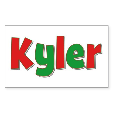 Kyler Christmas Rectangle Sticker