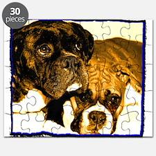 Boxer Dog Friends Puzzle