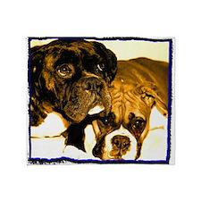 Boxer Dog Friends Throw Blanket
