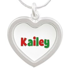 Kailey Christmas Silver Heart Necklace