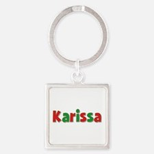 Karissa Christmas Square Keychain