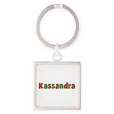 Kassandra Christmas Square Keychain