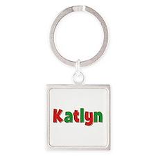 Katlyn Christmas Square Keychain