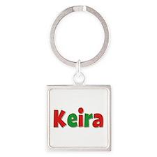 Keira Christmas Square Keychain