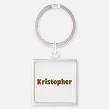 Kristopher Christmas Square Keychain