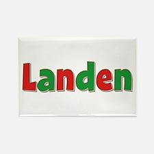 Landen Christmas Rectangle Magnet