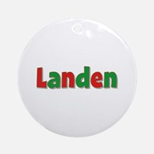Landen Christmas Round Ornament