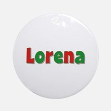 Lorena Christmas Round Ornament