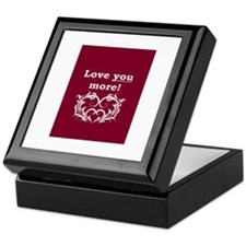 Unique I heart Keepsake Box
