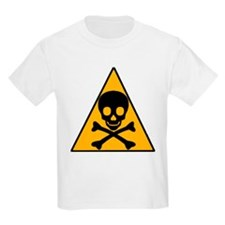 Caution Pirate Skull & XBones Kids T-Shirt