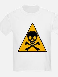 Caution Pirate Skull & XBones Kids T-Shirt