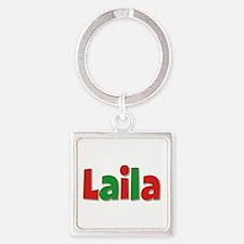 Laila Christmas Square Keychain