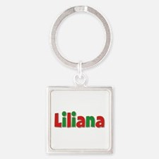 Liliana Christmas Square Keychain