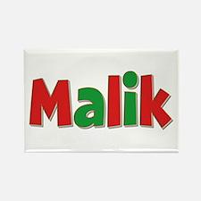 Malik Christmas Rectangle Magnet