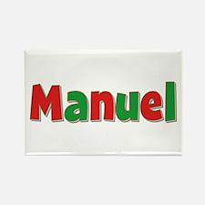 Manuel Christmas Rectangle Magnet