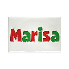 Marisa Christmas Rectangle Magnet