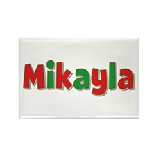 Mikayla Christmas Rectangle Magnet