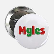 Myles Christmas Button