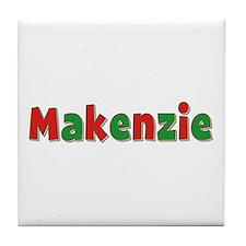 Makenzie Christmas Tile Coaster