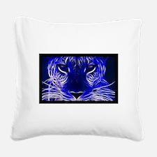 Neon Leopard Square Canvas Pillow