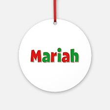 Mariah Christmas Round Ornament