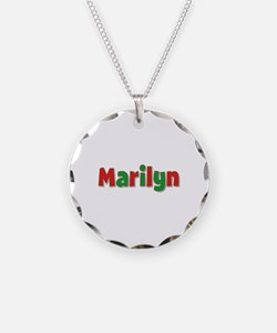 Marilyn Christmas Necklace Circle Charm