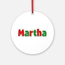 Martha Christmas Round Ornament