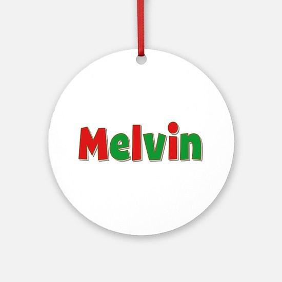 Melvin Christmas Round Ornament