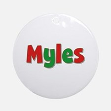 Myles Christmas Round Ornament