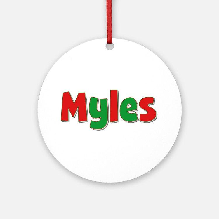 Myles Christmas Round Ornament