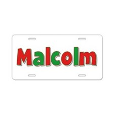 Malcolm Christmas Aluminum License Plate