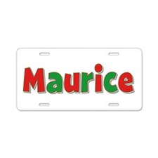 Maurice Christmas Aluminum License Plate