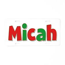 Micah Christmas Aluminum License Plate