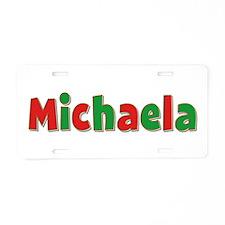 Michaela Christmas Aluminum License Plate
