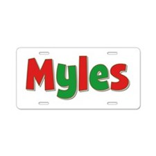 Myles Christmas Aluminum License Plate