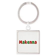 Makenna Christmas Square Keychain