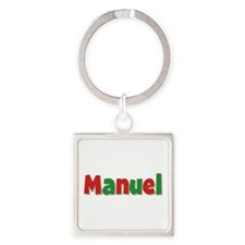 Manuel Christmas Square Keychain