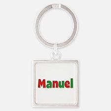 Manuel Christmas Square Keychain