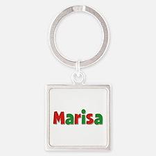 Marisa Christmas Square Keychain