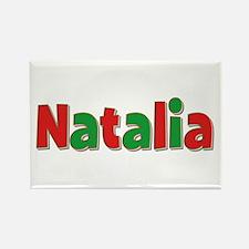 Natalia Christmas Rectangle Magnet